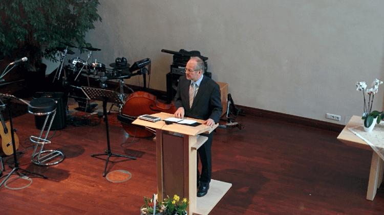 Gerd Ballon bei der Predigt am 14.02.2016