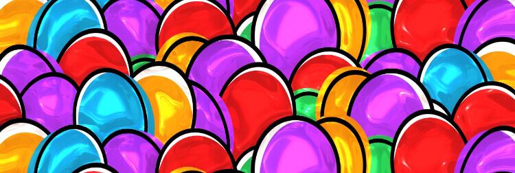 Ostereier, Symbol-Bild für die Jungschar-Osterübernachtung