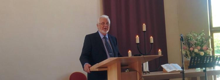 """Helmut Plenio predigt über das Thema """"Vorbild einer lebendigen Gemeinde"""" am 22.05.2016 in der FeG FFB"""