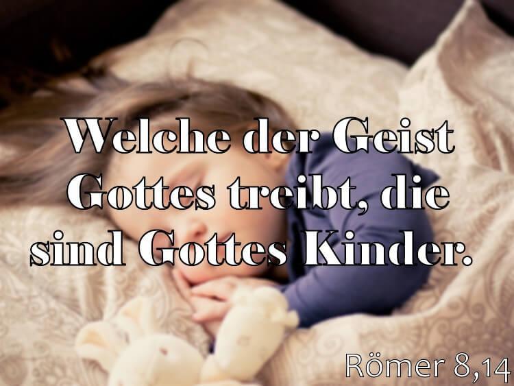 Wochenspruch 2 / 2017: Römer 8,14: Welche der Geist Gottes treibt, die sind Gottes Kinder.