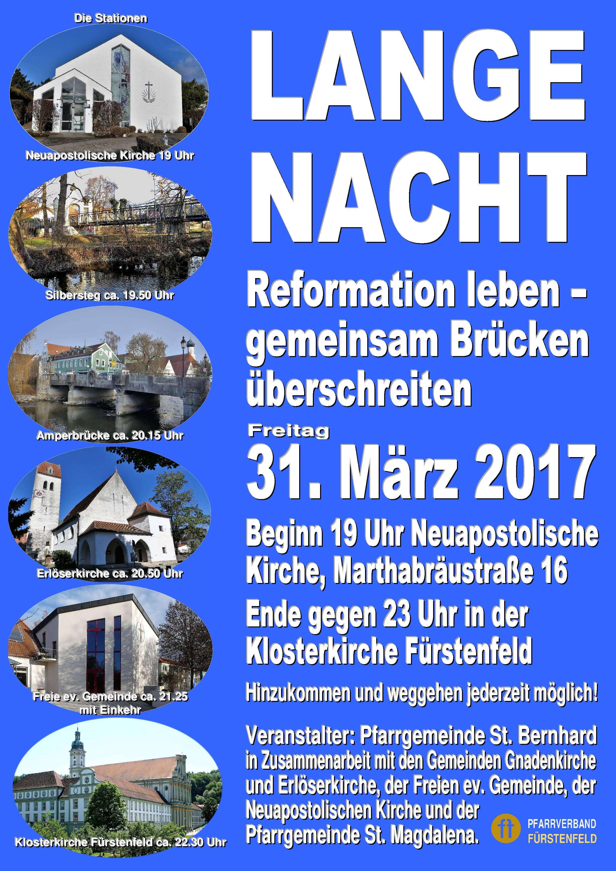 """Poster """"Lange Nacht der Kirchen 2017"""""""