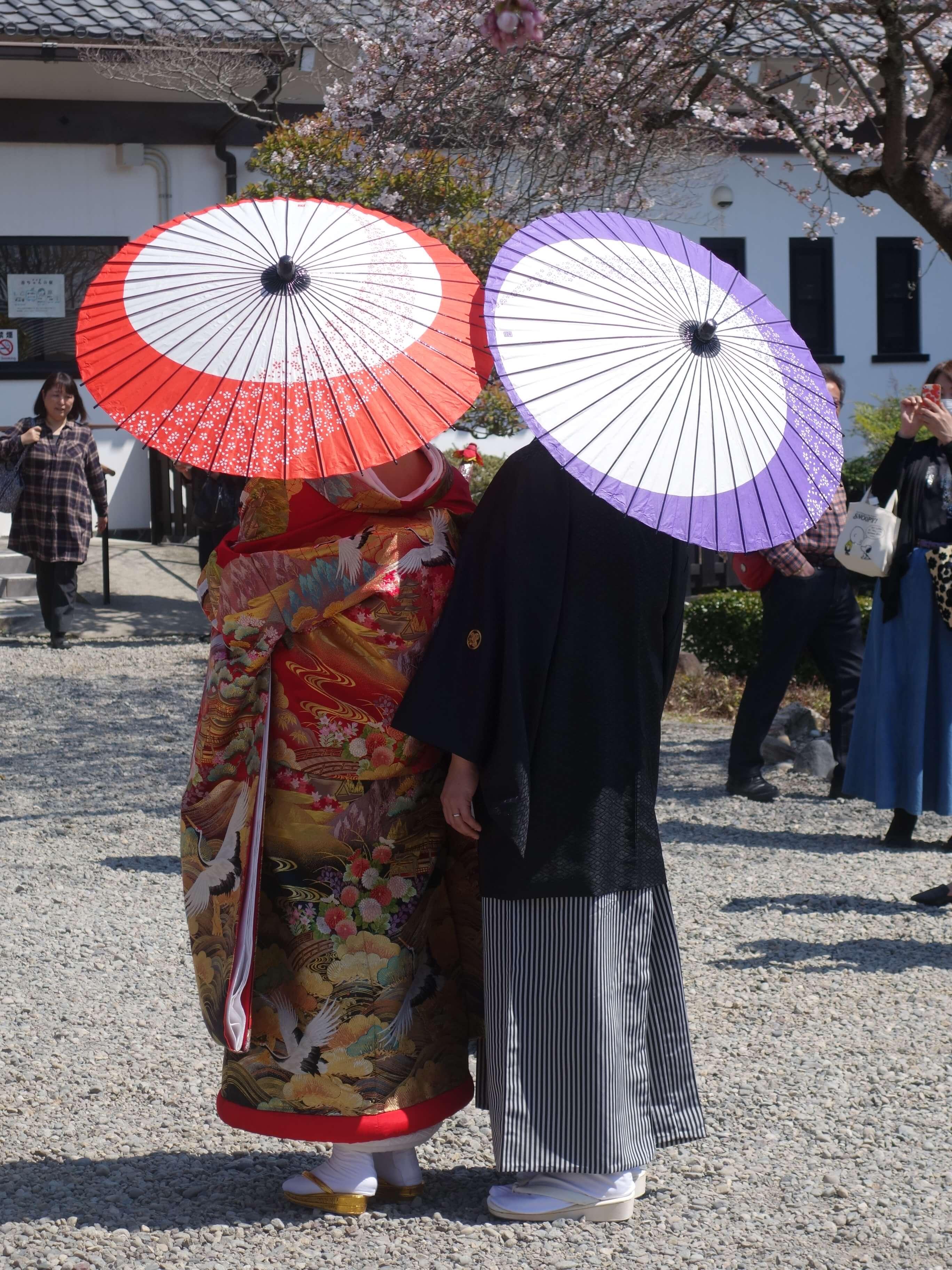Familie Eymann als japanisches Hochzeitspaar