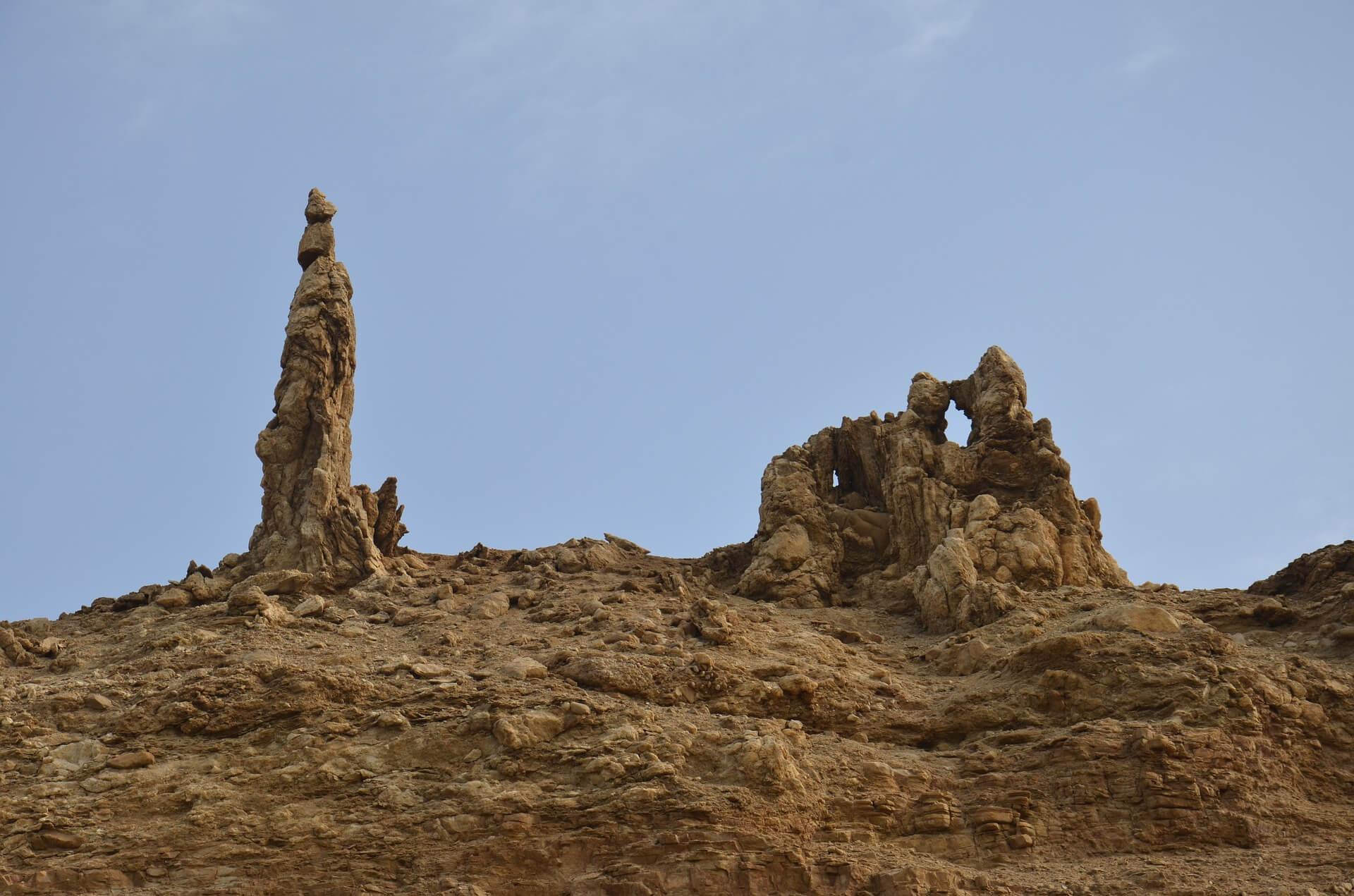 Salzsäule in Israel. Symbolbild für Lot