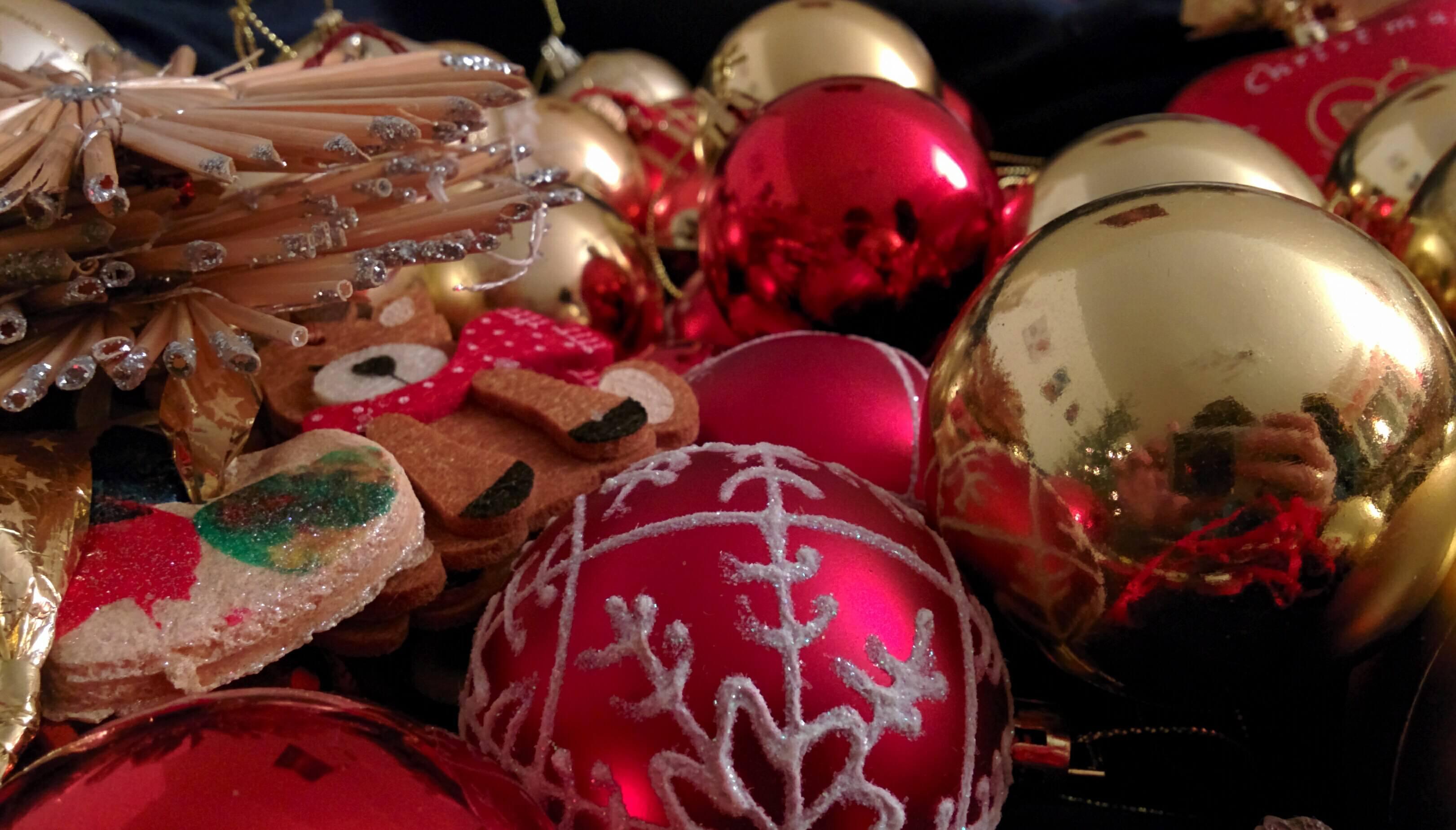 Weihnachtsschmuck. Symbolbild für Weihnachten 2017