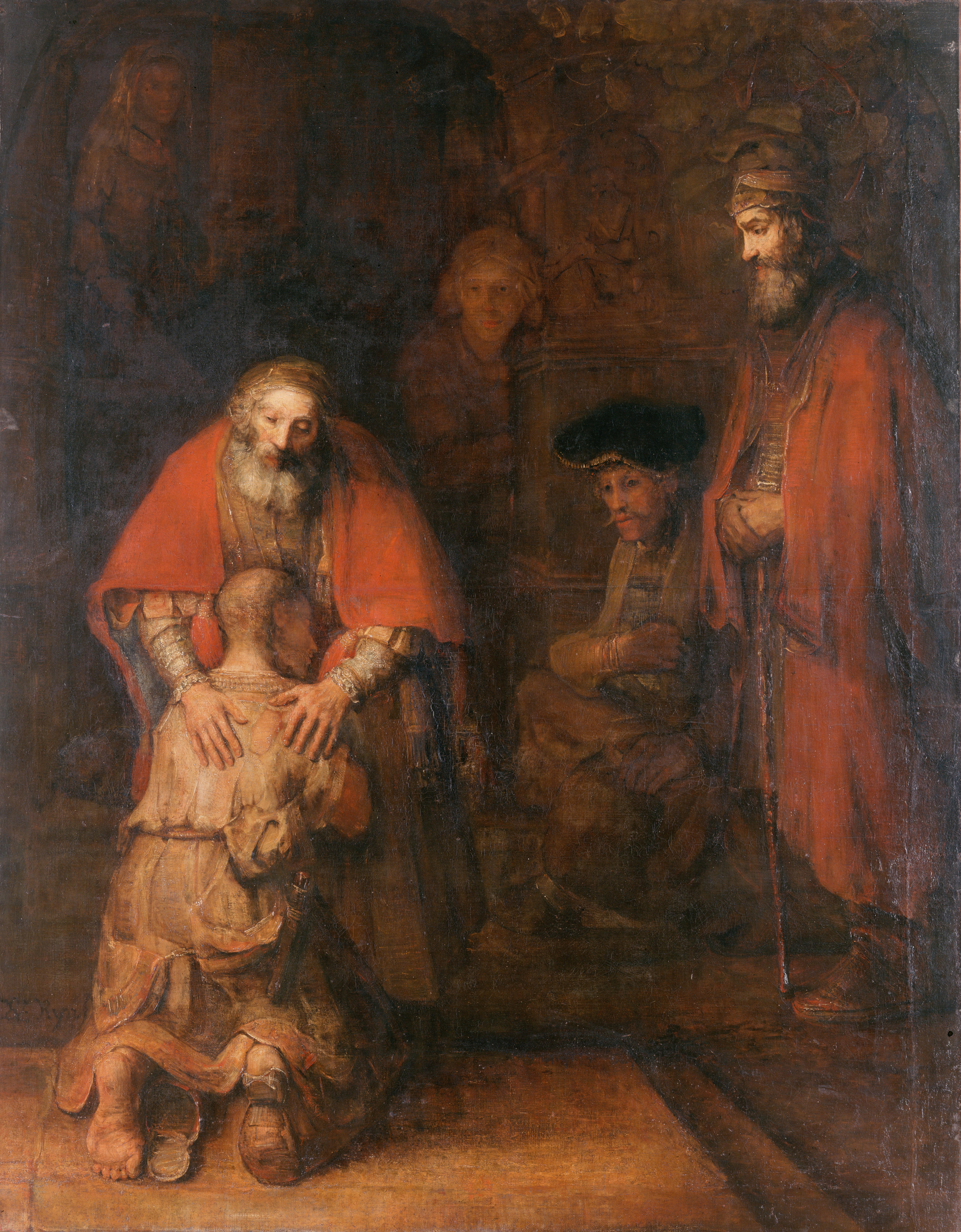 """""""Die Heimkehr des verlorenen Sohnes"""" von Harmeszoon Rembrandt van Rijn um 1622 (wurde 1766 von Katharina der Großen erworben)"""