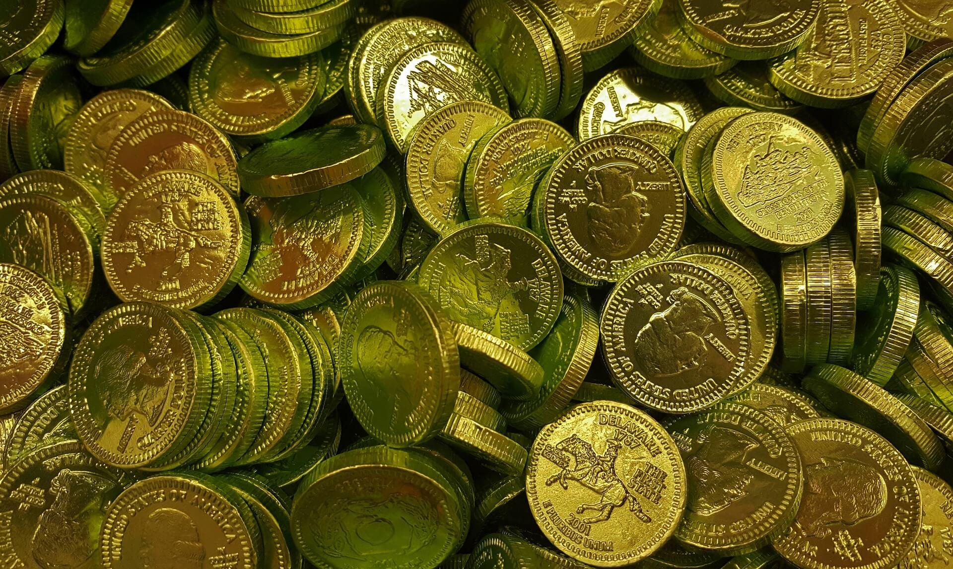Münzen als Symbol für Schätze